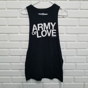 Soulcycle Army Of Love Black Tank L